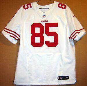 SAN FRANCISCO 49ERS VERNON DAVIS AUTHENTIC NFL WHITE #85 Nike Size 52 JERSEY