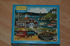 CHARLES WYSOCKI'S 1000 pc JIGSAW PUZZLE-BIRDS OF A FEATHER - USED-COMPLETE