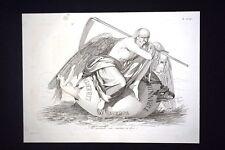 Incisione d'allegoria e satira Libertà, Tirannide, Europa Don Pirlone 1851