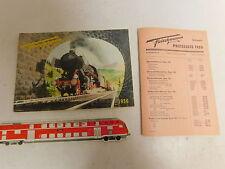 AS409-0,5# Fleischmann H0 Katalog 1956 Schweiz/Franken mit Preisliste