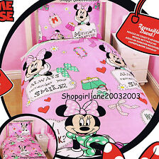 Minnie Mouse - Disney - Makeover - Single/Twin Bed Quilt Doona Duvet Cover Set