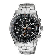 Casio Men's Silvertone Bracelet Watch, Date, 50 Meter, Chronograph, MTP4500D-1AV