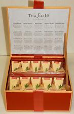 TEA FORTE TEA CHEST HERBAL COLLECTION ASSORTMENT 40 TEA SILKEN INFUSERS NEW