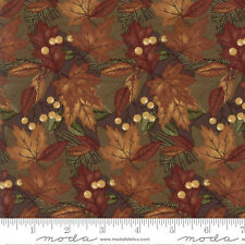 MODA Fabric ~ COUNTRY ROAD ~ by Holly Taylor (6662 21) Earth - by 1/2 yard