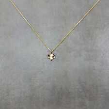 Maple Leaf Gold Plated Necklace Gift Box Canada Hockey Toronto Syrup Vancouver