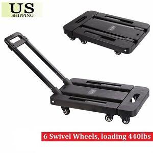 440lbs Platform Cart Dolly Folding Moving Luggage Hand Truck Trolley Heavy Duty