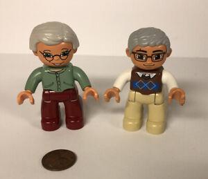Lego Duplo - Set Of Grandparents Grandma & Grandpa Figure Pieces