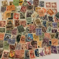 WORLD OVERPRINT STAMP COLLECTION OF 100+ STAMPS FROM 30+ COUNTRIES NO DUPLICATES