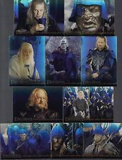 LORD OF THE RINGS RETURN OF THE KING 2003 TOPPS 10 HOLOFOIL CHASE CARD SET #1-10