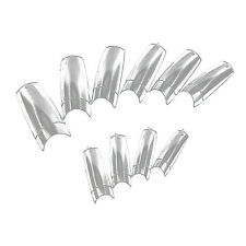 500PCS Clear French Acrylic Artificial False Tips 3D Nail Art New