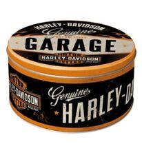 Vorratsdose rund Harley Davidson Garage,NEU,Hoard Box Metal,New