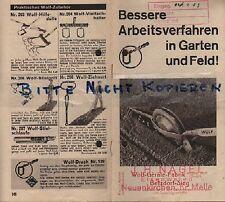 Betzdorf-victoria, folleto 1933, Wolf-dispositivos-fábrica Wolf-escarificadores cultivadora rastrillos