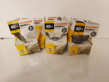 Sylvania Double Life 40w Indoor Light Bulbs 3000 Hours Life 3 Pack