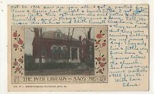The Dyer Library SACO ME Vintage York County Maine Postcard