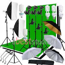 Photog Studio Softbox Backdrop Umbrella Continuous Lighting Kit Background Stand