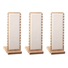 3 Pcs White Necklace Display Stand Jewelry Holder Storage Leather Surface