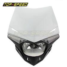 Universal Dirt bike Motocross LED Headlight Fairing With Bulb For Honda Yamaha