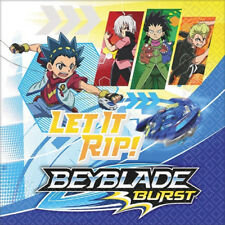 BEYBLADE BURST SMALL NAPKINS (16) ~ Birthday Party Supplies Beverage Serviettes