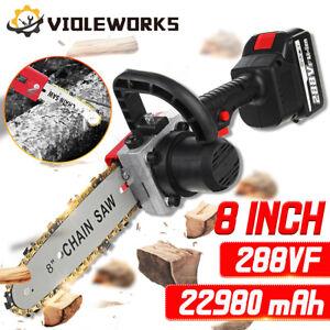 288V Elettrosega Elettrico Sega 8 Pollici Motoseghe a Batteria Con 1/2 Batteria