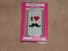 NEW, SWAGSTYLE I HEART MOUSTACHE SNAP CASE FOR IPHONE 5