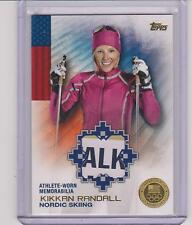 2014 TOPPS OLYMPIC KIKKAN RANDALL GOLD 3 COLOR RELIC CARD ~ 17/25 NORDIC SKIING