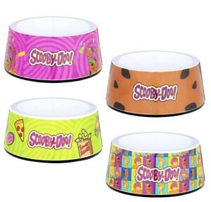 Scooby Doo Dog Pet Bowls Hanna-Barbara Rubber Grip Base Dishwasher safe New Free