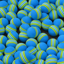 20pcs Blue Striped FOAM Sponge Golf Balls Swing Practice TrainingAids Hit A F8C3