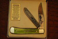 BOKER TREE BRAND SOLINGEN GERMANY VIETNAM WAR GREEN BONE TRAPPER KNIFE (3274)