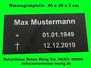 Grabplatte Urnengrab Urne Einfassung Grabstein Granit Marmor Schrift Platten