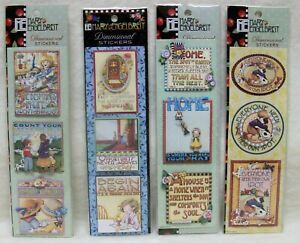 12 NEW & Sealed Mary Engelbreit Dimensional Stickers (4-Packs of 3-Sets)