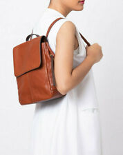 NWT Fossil Claire Brandy Leather Backpack SHB1932213 Brown $178 Brass Hardware