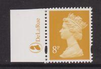 GB QEII STAMP MNH MACHIN DEFINITIVE SG Y1674 8p Yellow 2B DE LA RUE TAB