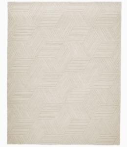 John Lewis & Partners TEXTURED HEXAGON Ivory Rug 244 x 305cm **RRP £999**