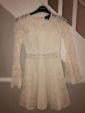Topshop Lace Skater Dress Size 4 Petite