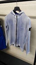 Stone Island Junior Hooded Cardigan Jersey In Blue
