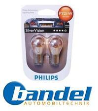 PHILIPS SILVERVISION 2er SET PY21W BAU15s Blinkerlampen