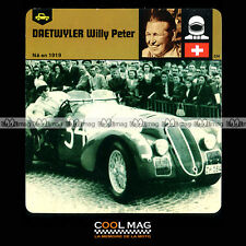 #29.03 WILLY PETER DAETWYLER Pilote - Fiche Auto Car Card