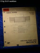 Sony Service Manual SRS 20 Active Speaker System (#4933)