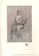 1903 studio print ~ madonna di foligno par raphael