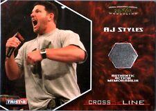 TNA AJ Styles 2008 Cross The Line GOLD Event Used Memorabilia Card SN 15 of 50