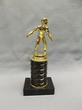diecast motocross trophy metal column marble base