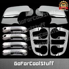 For 07-09 Ford Explorer 4Drs W/Pskh+Full Mirror+Tail Light Bezel Chrome Cover
