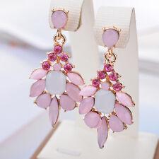 EG_ Women Jelly Resin Rhinestone Water Drop Dangle Ear Stud Earrings Jewelry Hot