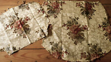 Antique French Gold Floral Silk Brocade Fabric ~ Upholstery Chair Seat Back