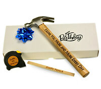 Anniversary Gift TOOLS SET Hammer Your Own Personalised Grandad Birthday claw