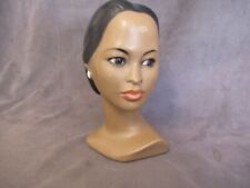 Vintage MARWAL Hawaiian Polynesian Girl with Earring Chalkware Bust   dl