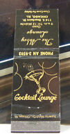 Rare Vintage Matchbook Cover T2 Chicago Illinois Cocktail Lounge The Abbey
