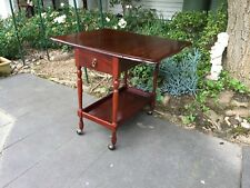 Vintage Mahogany Drop-Side 2-Tier Auto-Trolley - Games / Hall Table!