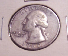WASHINGTON QUARTER 1960 P TWENTY FIVE CENT US SILVER COIN