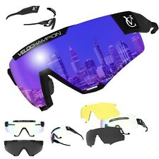 Pro Cycling VC Cyclone Sunglasses With 4 Lenses 100 UV Protection Anti Fogging